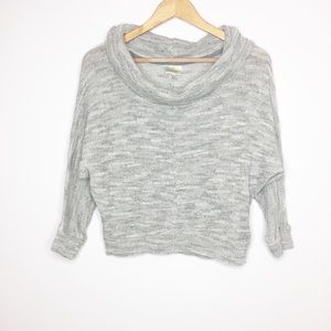 Porridge Anthropologie gray cropped sweater XS